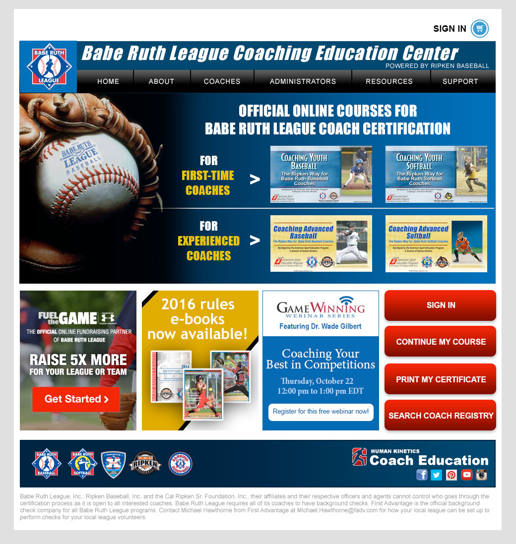 New Coaching Education Website